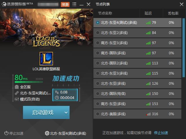 图2:迅游国际网游加速器——提升玩家们的实战水平
