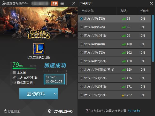 圖2:迅游國際網游加速器——讓跨服游戲來的更暢爽